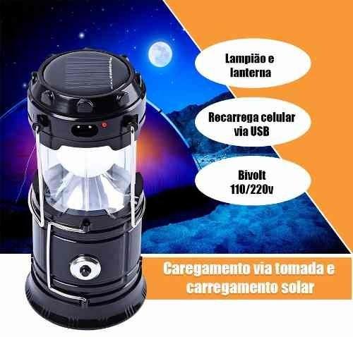 lampiao e lanterna led recarregavel solar e energia usb D NQ NP 659787 MLB26093957821 092017 F