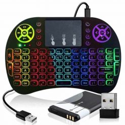 mini teclado led tv box smart tv
