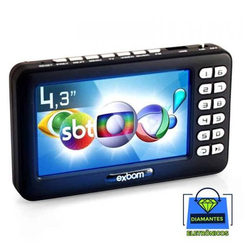 mini tv digital portatil exbom mtv 43a