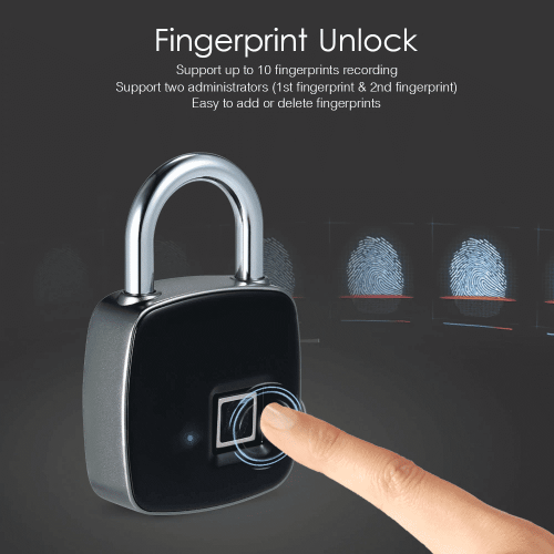Cadeado digital biométrico