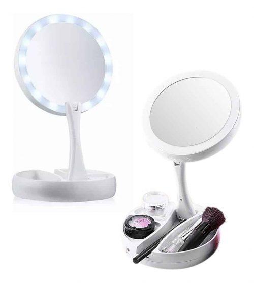 Espelho maquiagem com Led