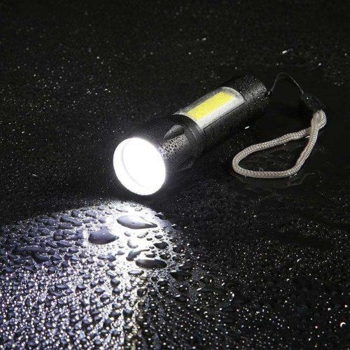 Mini lanterna tática recarregáve