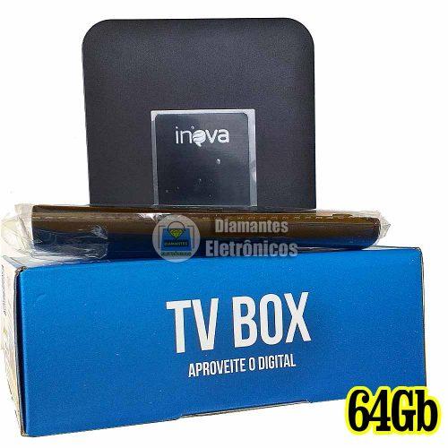 tv box inova 64gb dig 6200 display