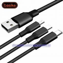 Cabo USB Basike 3 em 1