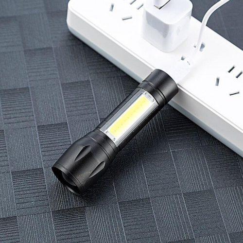 mini lanterna tatica recarregavel usb led 4