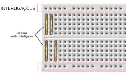 Montagem com matriz de contatos (ProtoBoard)