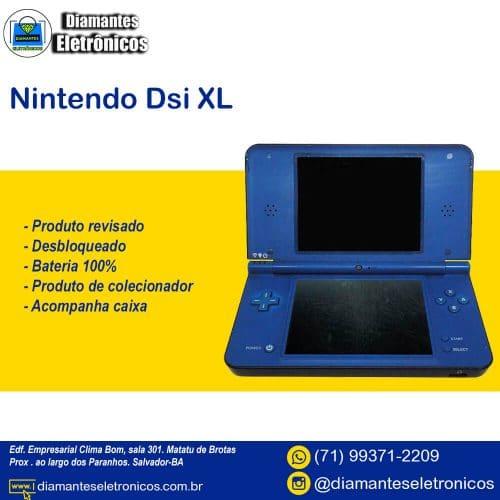 Nintendo-dsi-xl-usado-desbloqueado-r4-jogos